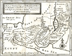 Figure 2. A 1711 map of the Red Sea (Ed Wells 1711).